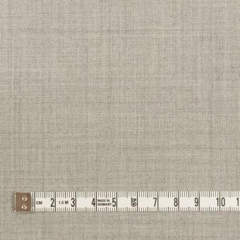 ウール&ポリエステル混×無地(ライトグレー)×サージストレッチ サムネイル4