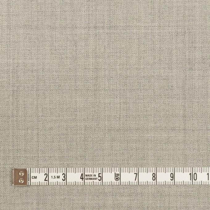 ウール&ポリエステル混×無地(ライトグレー)×サージストレッチ イメージ4