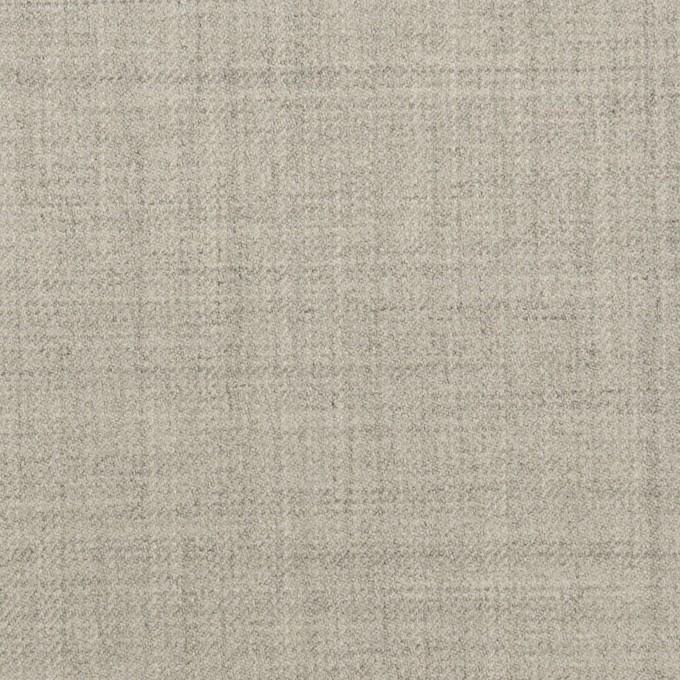 ウール&ポリエステル混×無地(ライトグレー)×サージストレッチ イメージ1