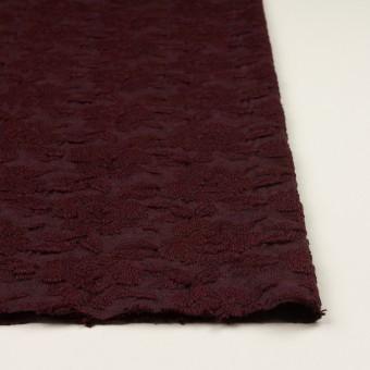 ウール&アクリル混×フラワー(バーガンディー)×天竺ニット刺繍_イタリア製 サムネイル3