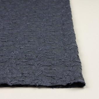 ウール&アクリル混×フラワー(ブルーグレー)×天竺ニット刺繍_イタリア製 サムネイル3