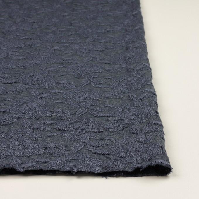 ウール&アクリル混×フラワー(ブルーグレー)×天竺ニット刺繍_イタリア製 イメージ3