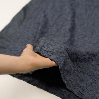 ウール&アクリル混×フラワー(ブルーグレー)×天竺ニット刺繍_イタリア製 サムネイル5
