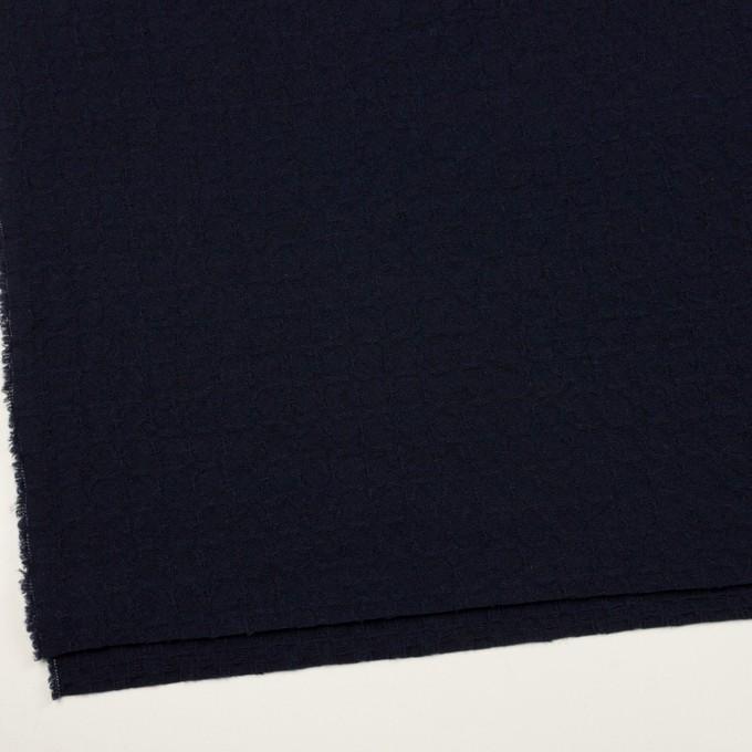 ウール&ポリエステル混×無地(ダークネイビー)×かわり織_全2色 イメージ2