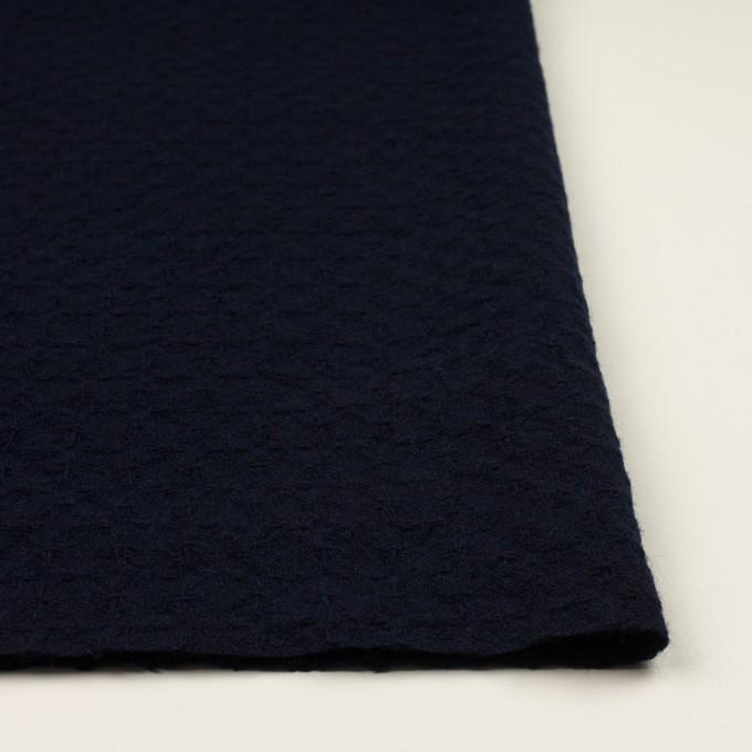 ウール&ポリエステル混×無地(ダークネイビー)×かわり織_全2色 イメージ3