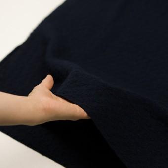 ウール&ポリエステル混×無地(ダークネイビー)×かわり織_全2色 サムネイル5