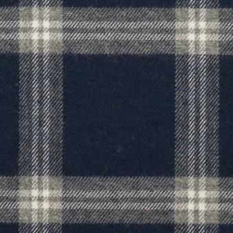 コットン×チェック(ネイビー&グレー)×ビエラ_全2色