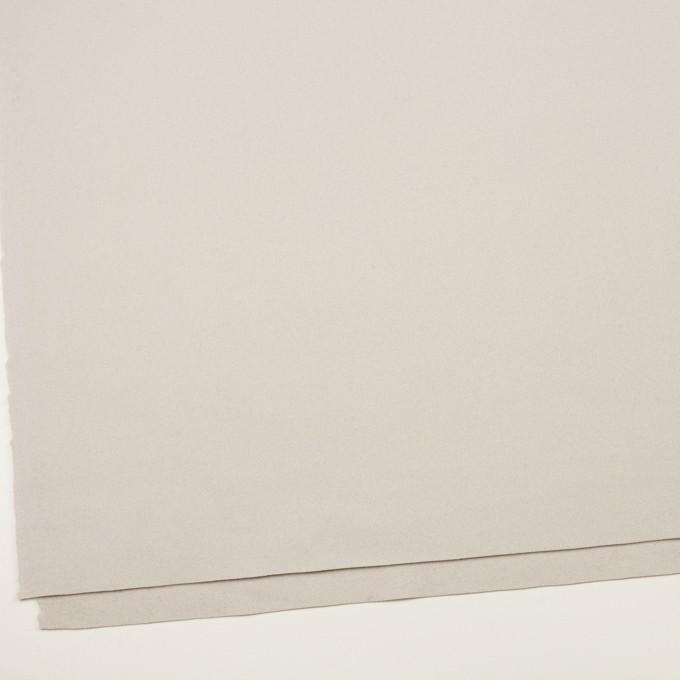 ウール×無地(パールグレー)×フラノ(フランネル) イメージ2