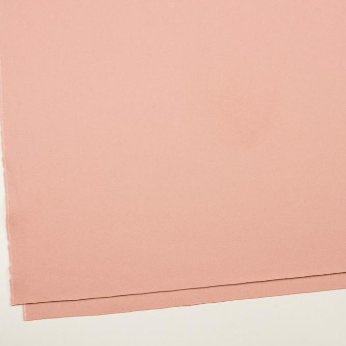 ウール×無地(サーモンピンク)×フラノ(フランネル) イメージ2
