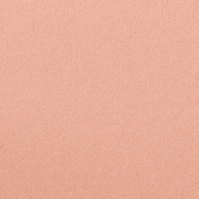 ウール×無地(サーモンピンク)×フラノ(フランネル) イメージ1