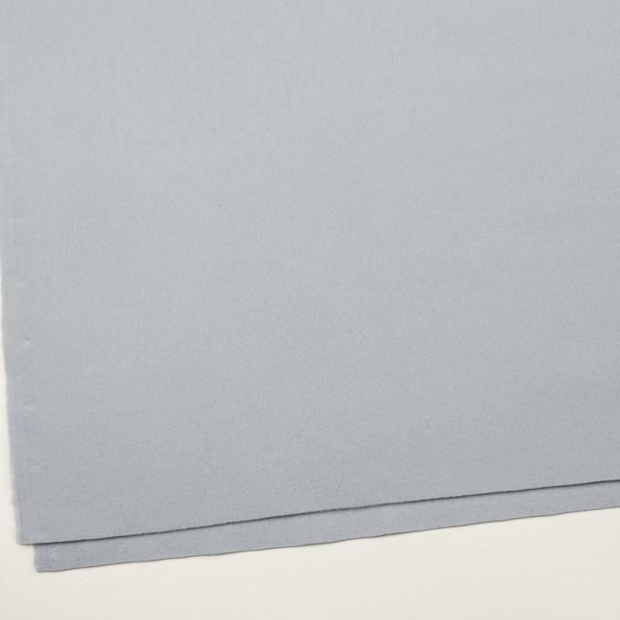 ウール×無地(ペールブルー)×フラノ(フランネル) イメージ2