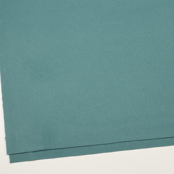 ウール×無地(ピーコックブルー)×フラノ(フランネル) イメージ2
