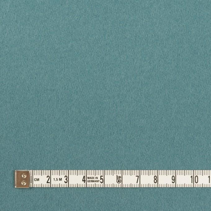 ウール×無地(ピーコックブルー)×フラノ(フランネル) イメージ4