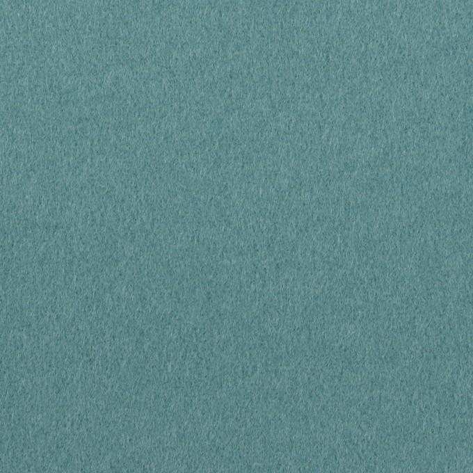 ウール×無地(ピーコックブルー)×フラノ(フランネル) イメージ1