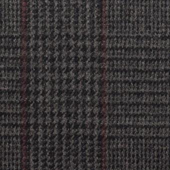 ウール×チェック(チャコール)×ツイード_全2色