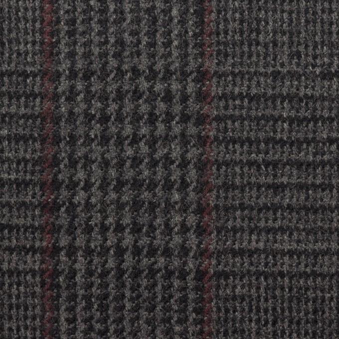 ウール×チェック(チャコール)×ツイード_全2色 イメージ1