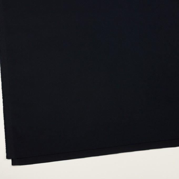 コットン&ポリウレタン×無地(ダークネイビー)×ビエラストレッチ イメージ2