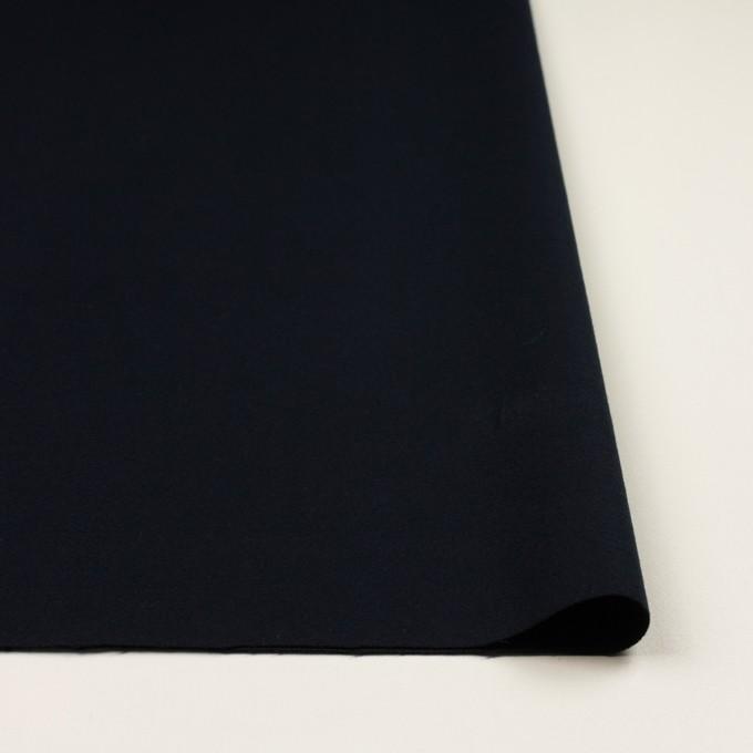 コットン&ポリウレタン×無地(ダークネイビー)×ビエラストレッチ イメージ3