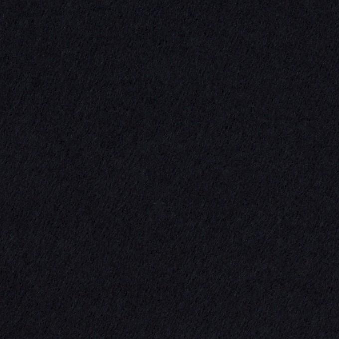 コットン&ポリウレタン×無地(ダークネイビー)×フランネル・ストレッチ イメージ1