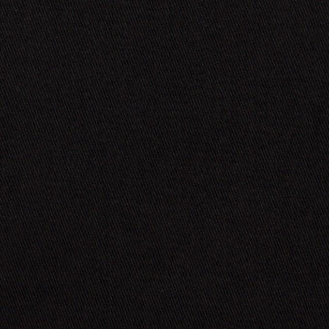 コットン&ポリウレタン×無地(ブラック)×ビエラストレッチ イメージ1