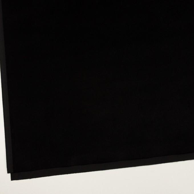 コットン&ポリウレタン×無地(ブラック)×ベッチンストレッチ イメージ2