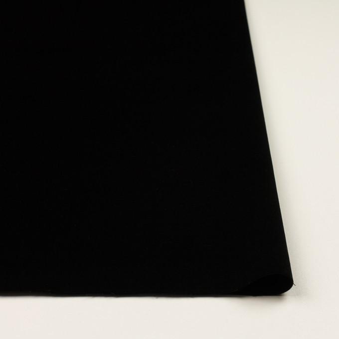 コットン&ポリウレタン×無地(ブラック)×ベッチンストレッチ イメージ3