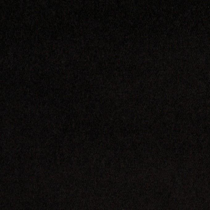 コットン&ポリウレタン×無地(ブラック)×ベッチンストレッチ イメージ1