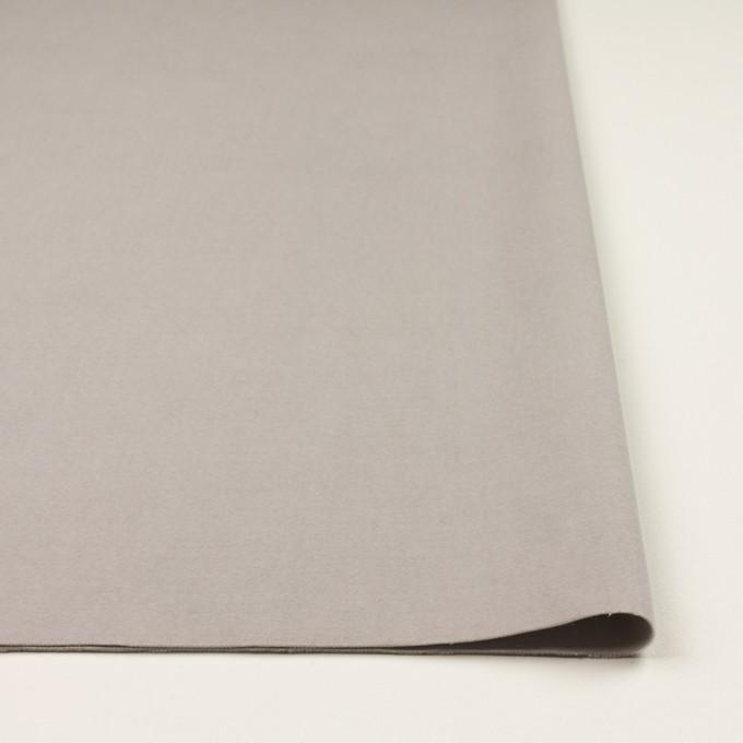 コットン&ポリウレタン×無地(パールグレー)×ベルベット・ストレッチ イメージ3