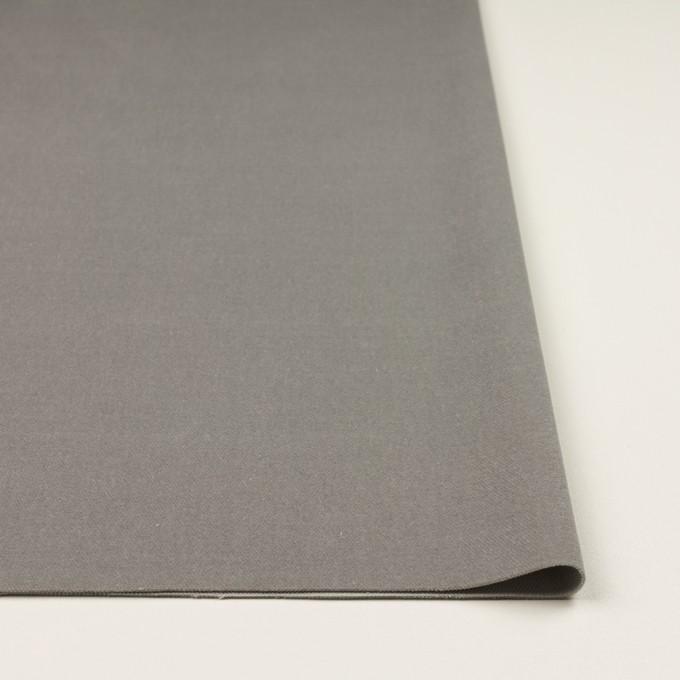 コットン&ポリウレタン×無地(ストーングレー)×ベルベット・ストレッチ イメージ3
