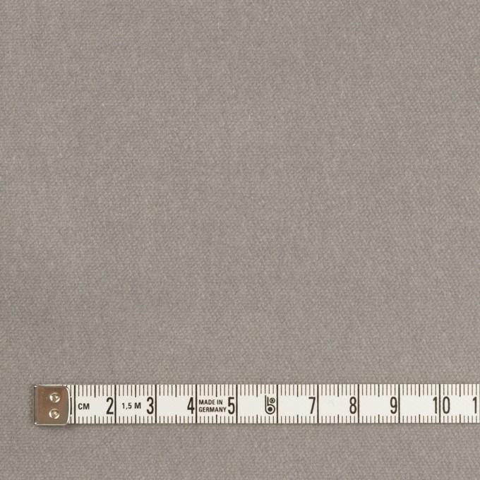 コットン&ポリウレタン×無地(ストーングレー)×ベルベット・ストレッチ イメージ4
