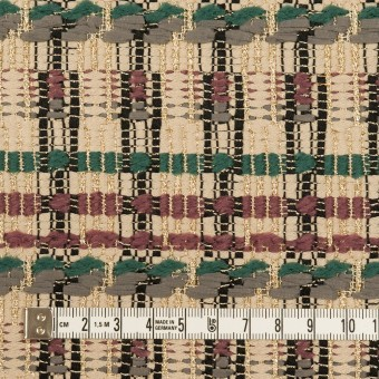 ポリエステル&ナイロン混×ミックス(ベージュ、グレイッシュパープル&バルビゾン)×ファンシーツイード サムネイル4