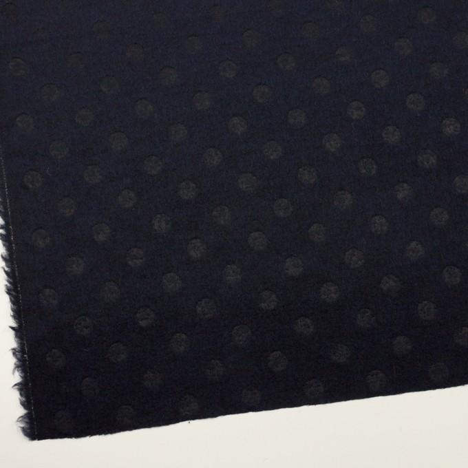 ウール&ポリエステル×サークル(ミッドナイトブルー)×ジャガード イメージ2
