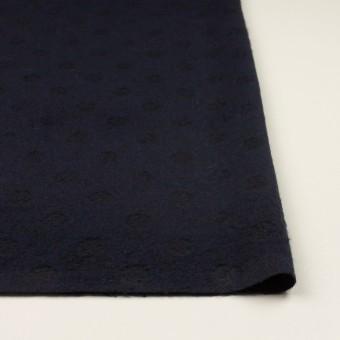 ウール&ポリエステル×サークル(ミッドナイトブルー)×ジャガード サムネイル3