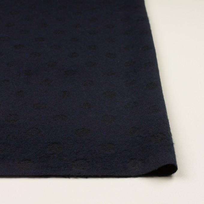 ウール&ポリエステル×サークル(ミッドナイトブルー)×ジャガード イメージ3