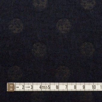 ウール&ポリエステル×サークル(ミッドナイトブルー)×ジャガード サムネイル4