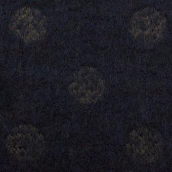 ウール&ポリエステル×サークル(ミッドナイトブルー)×ジャガード サムネイル1