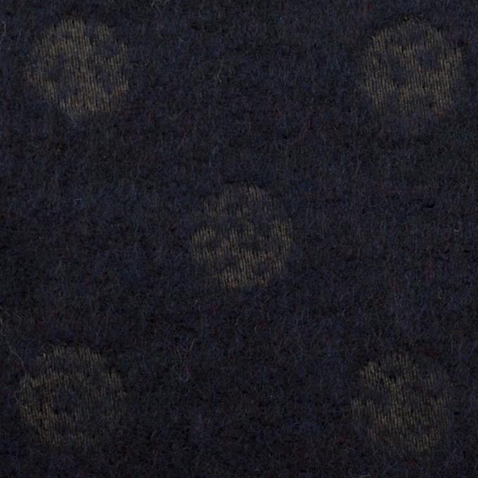 ウール&ポリエステル×サークル(ミッドナイトブルー)×ジャガード イメージ1
