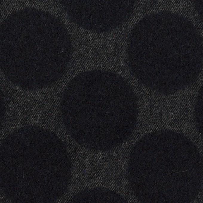 ウール×サークル(チャコール)×サージジャガード イメージ1