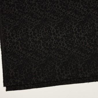 アクリル&ポリエステル×レオパード(ブラック)×サテンジャガード サムネイル2