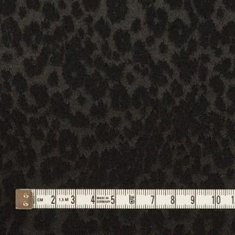 アクリル&ポリエステル×レオパード(ブラック)×サテンジャガード サムネイル4