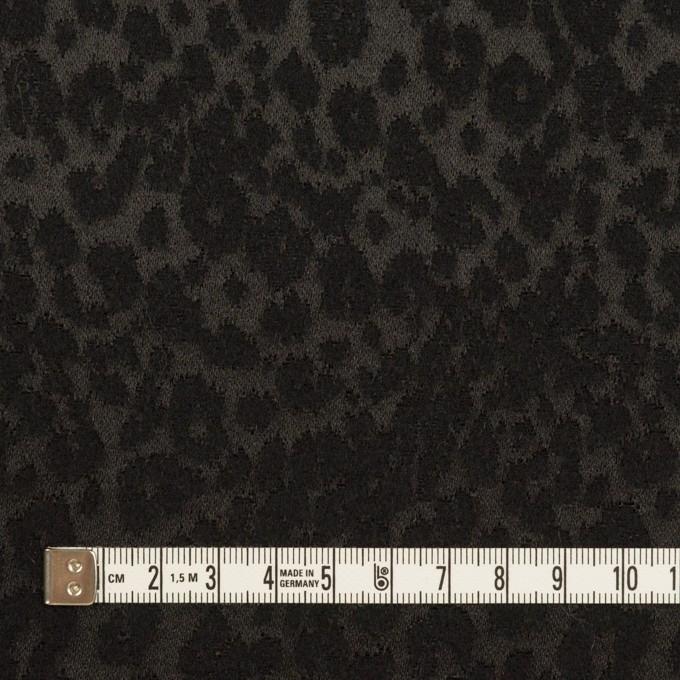 アクリル&ポリエステル×レオパード(ブラック)×サテンジャガード イメージ4
