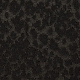 アクリル&ポリエステル×レオパード(ブラック)×サテンジャガード サムネイル1