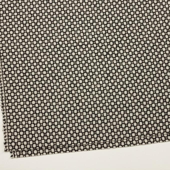ウール&ポリエステル×サークル(アイボリー&ブラック)×ファンシーツイード イメージ2