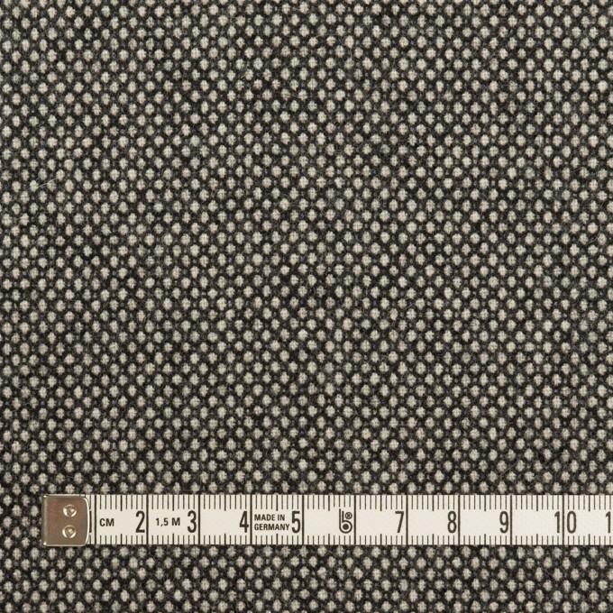 ウール&アクリル混×ミックス(アイボリー&チャコール)×バーズアイ イメージ4