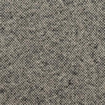 ウール&ポリエステル混×ミックス(チャコールグレー)×ツイードストレッチ