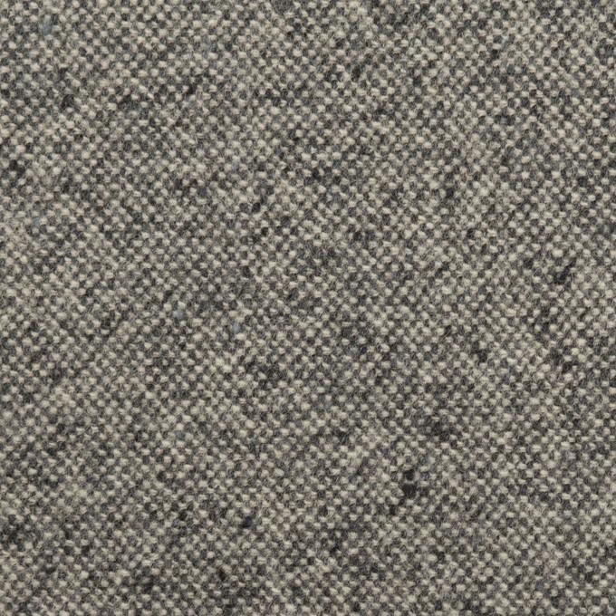ウール&ポリエステル混×ミックス(チャコールグレー)×ツイードストレッチ イメージ1