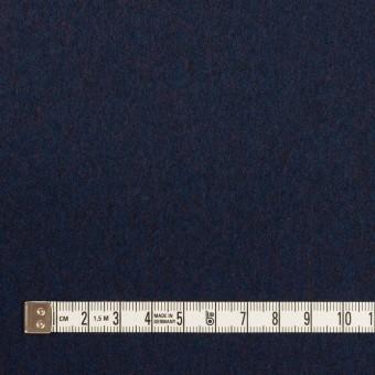 ウール×無地(ミッドナイトブルー)×フラノ(フランネル) サムネイル4