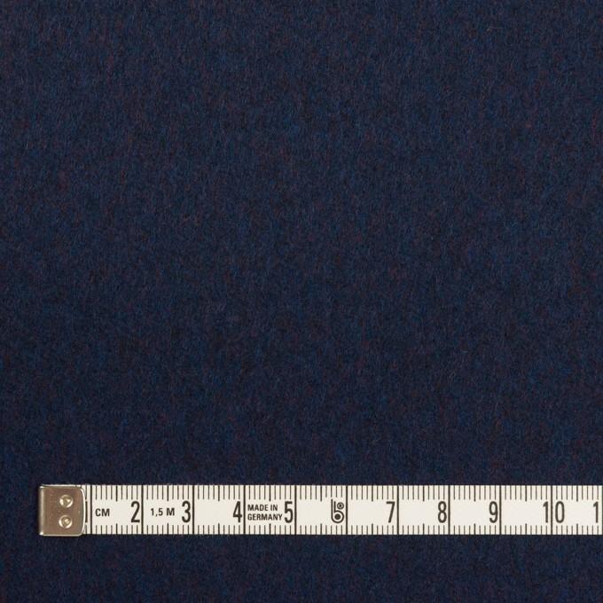 ウール×無地(ミッドナイトブルー)×フラノ(フランネル) イメージ4
