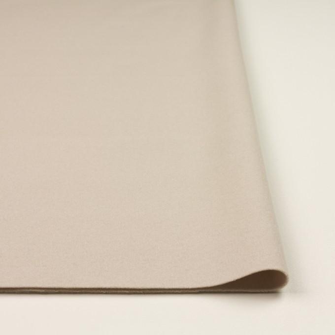 ウール×無地(オイスター)×フラノ(フランネル) イメージ3