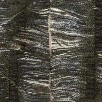 コットン&レーヨン×ストライプ(チャコール&エクリュ)×ジャガード サムネイル1